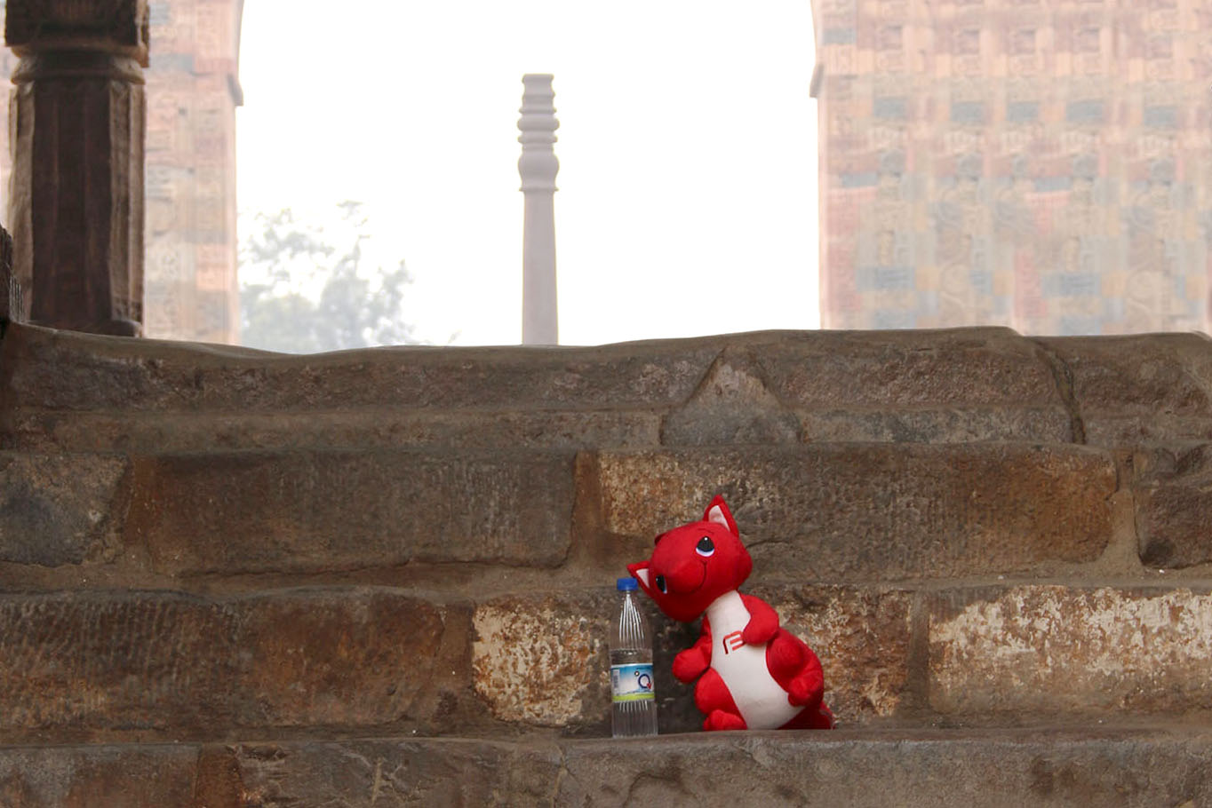 Bricky checks out some Indian stone bricks!